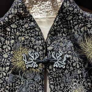 Vintage Asian Silk Reversible Jacket